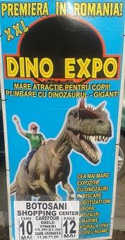 Cea mai mare expoziție de dinozauri din Europa ajunge la Botoșani Shopping Center