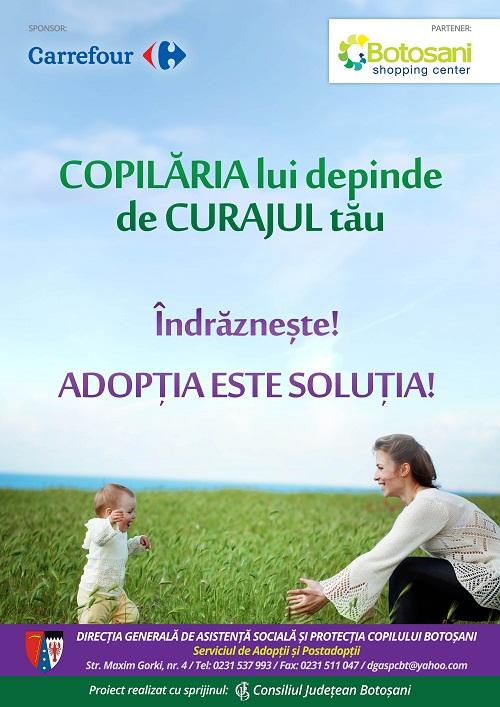 "Campania ""Adoptia este solutia!"""