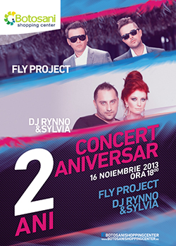 CONCERT ANIVERSAR 2 ani Botosani Shopping Center
