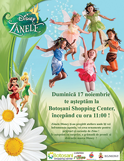 Zanele Disney ajung la Botosani Shopping Center!