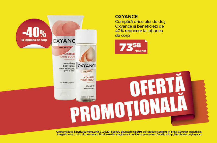 Promotie Sensiblu Oxyance