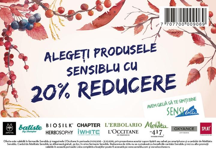 Voucher Sensiblu – 20% reducere
