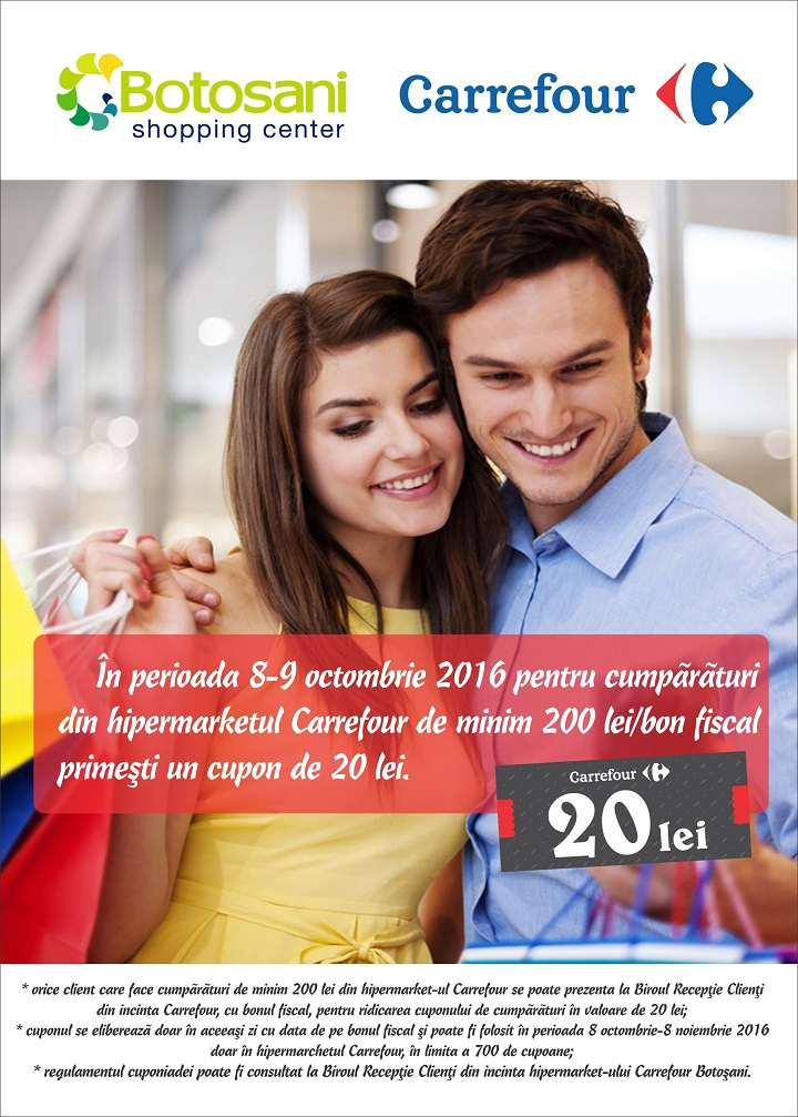 Cupon Carrefour – 20 lei
