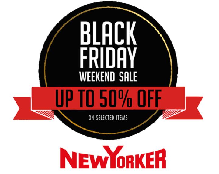 Black Friday la NEW YORKER – pana la 50% reducere!