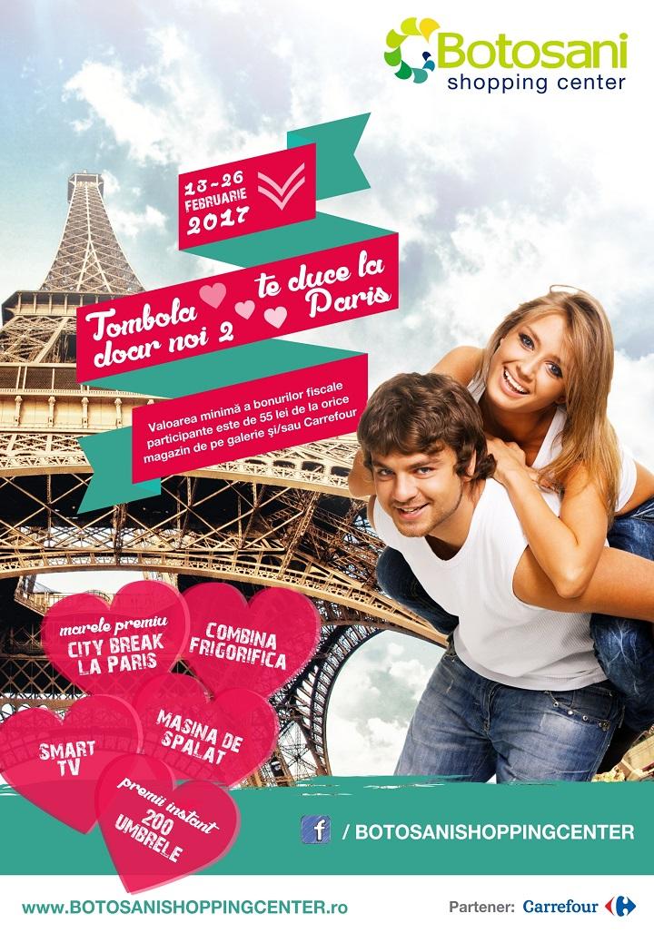 """Tombola """"Doar noi 2"""" te duce la Paris!"""