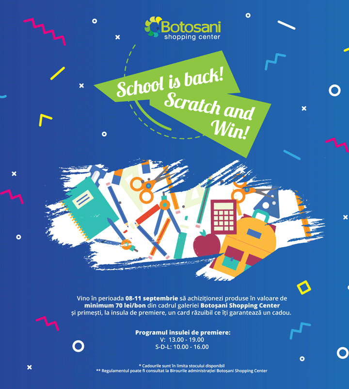 School is back! Scratch and Win!