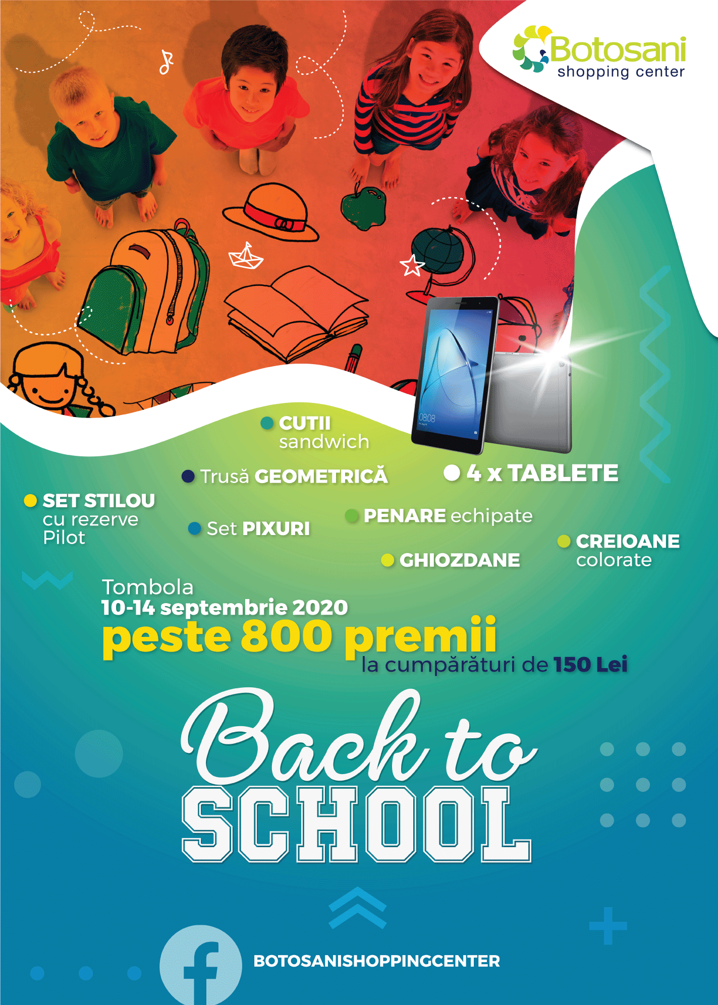 Tombola cu premii : Back to school!