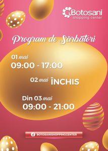 Program de Paște! [01-03 Mai 2021]